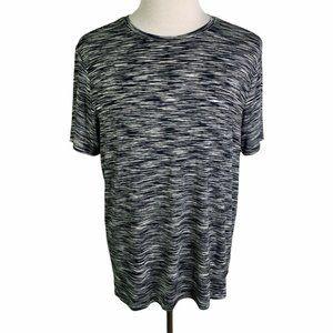 GUESS Black White Space Dye Short Sleeves T Shirt